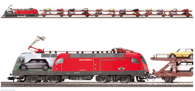 Herpa MINI Cooper S Train Set