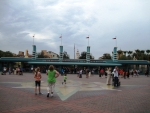 California Adventure Plaza Entrance - July 12, 2012