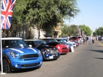 MINIs in formation at the Clovis Car Roundup
