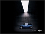 Blue MINI Cooper sees the light